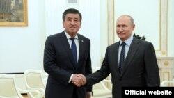 Сооронбай Жээнбеков жана Владимир Путин. 14.06.2018