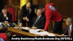 Арсеній Яценюк, Володимир Рибак і Віталій Кличко сьогодні в парламенті