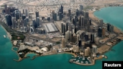 Qatar -- An aerial view of Doha's diplomatic area, March 21, 2013