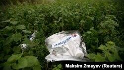 Уламок «Боїнга» компанії «Малайзійські авіалінії» біля селища Розсипне, Донецька область, липень 2014 року