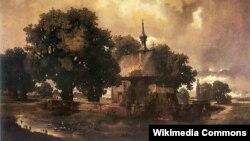 Уладзіслаў Малецкі, «Краявід з касьцёлам»