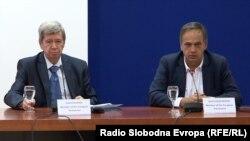 Поранешните пратеници во Европскиот парламент Едуард Кукан и Кнут Флекенштајн