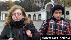 Irina Kalmikova sa sinom u Minsku