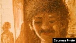 Автопортрет узбекского художника Хикмата Гулямова, известного под псевдонимом КУКА.