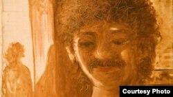 КУКА атанып кеткен өзбек суретшісі Хикмат Гулямовтың автопортреті.