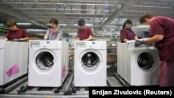 Gorenje mosógép gyár Szlovéniában (képünk illusztráció)