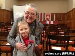 На сьвяткаваньні 95-гадавіны БНР у Празе з Івонкай Глыбоўскай. 2013 год.