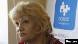 Liliya Shibanova, the director of the Russian election watchdog Golos (file photo)