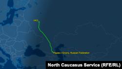 Рейс VQ-BVQ вылетел из Грозного и приземлился в московском аэропорту Внуково