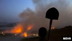 صحنهای از آتشسوزیهای اخیر در جنگلهای گلستان