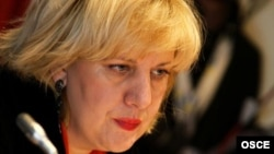 Dunja Mijatovic, OSCE representative on freedom of the media (file photo)