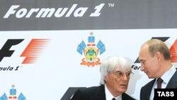 Берни Экклстоун и Владимир Путин, Сочи, 14 октября 2010 г
