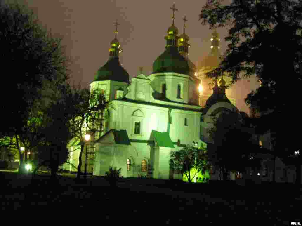 Собор Святої Софії вночі