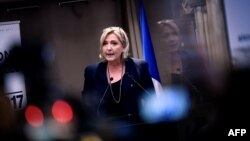 French far-right National Front party leader and presidential candidate Marine Le Pen (file photo)