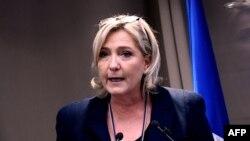Лидер крайне правой партии «Национальный фронт» и кандидат в президенты Франции Марин Ле Пен.