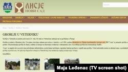 Tekst na internet stranici Javnog pogrebnog preduzeća u Novom Sadu
