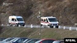 Ekipe hitne pomoći pristižu nakon eksplozije, Kragujevac