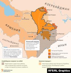 Территориальные итоги соглашения о мире в Нагорном Карабахе