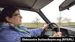 Гульнара Кадырова за рулем