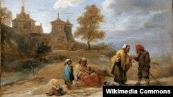 Давід Тэнірс Малодшы, «Цыганы ў краявідзе» (перад 1690)