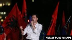 Архивска фотографија- Лидерот на албанската Демократска партија Љуљзим Баша