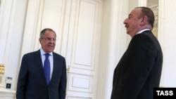 Ilham Əliyev Sergey Lavrovu qəbul edir, 11 iyul, 2016