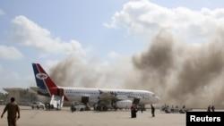 Eксплозија на аеродромот во Аден по пристигнувањето на авионот со новата влада, 30.12.2020