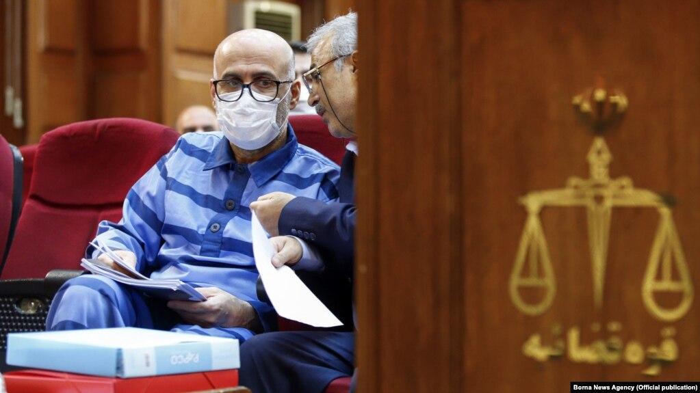 Iran -- Former Iranian judiciary official Akbar Tabari in one of his trial sessions regarding corruption in Iran's Judiciary System.