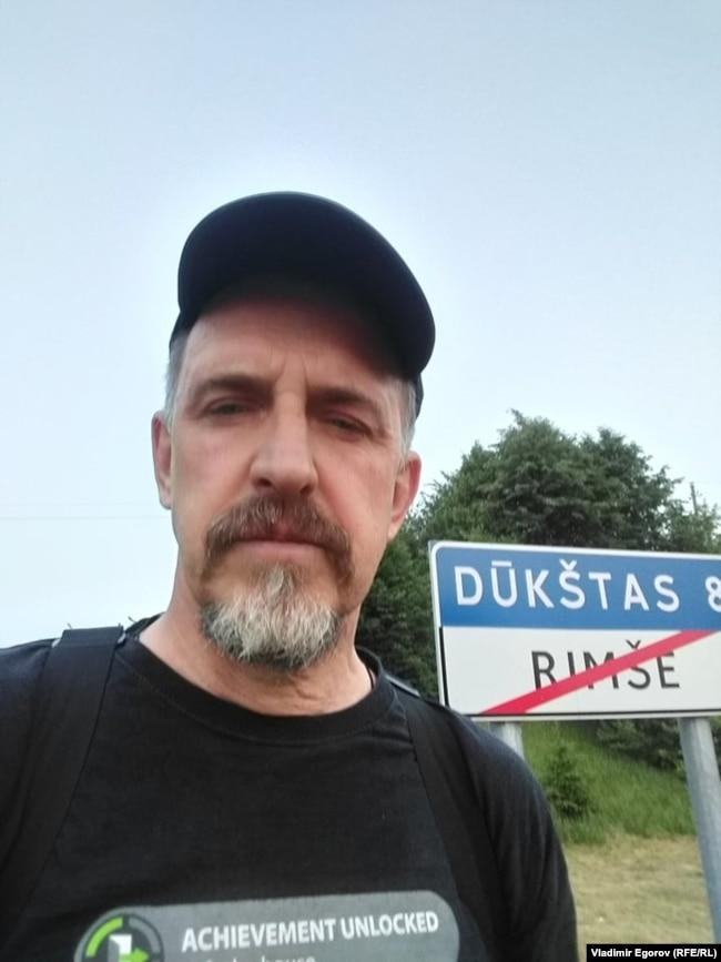 22 июня 2021 года, 4 часа утра, первое фото на литовской земле после успешного побега