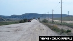 «Как бы дорога» от села Миндальное к бухте Бугаз