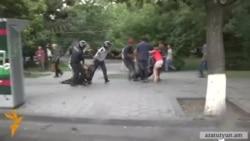 Ոստիկանները ուժ գործադրեցին ցուցարարների, լրագրողների նկատմամբ