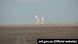 Ракетные учения возле Крыма 1 декабря 2016 года