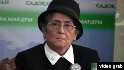 Ойнихол Бобоназарова, кандидат в президенты от оппозиции Таджикистана.