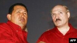 Уго Чавес и Александр Лукашенко во время визита президента Белоруссии в Венесуэлу. Декабрь 2007 года