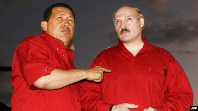 Chavez (left) enjoyed a good relationship with Belarusian President Alyaksandr Lukashenka