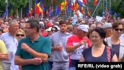La demonstrația de protest de duminică de la Chișinău