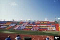 Открытие Олимпиады 1984 года в Лос-Анджелесе, которую бойкотировал СССР и страны социалистического блока