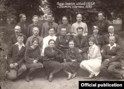 Групповой снимок участников курсов чешских учителей в Житомире, 1930 год