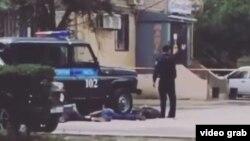 Скриншот фотографии с поста в Instagram'e в связи с событиями в Актобе.