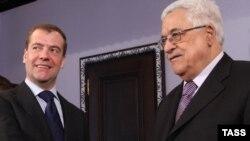 Җомга көнне Мәхмүт Габбас Русия президенты Дмитрий Медведев белән очрашты