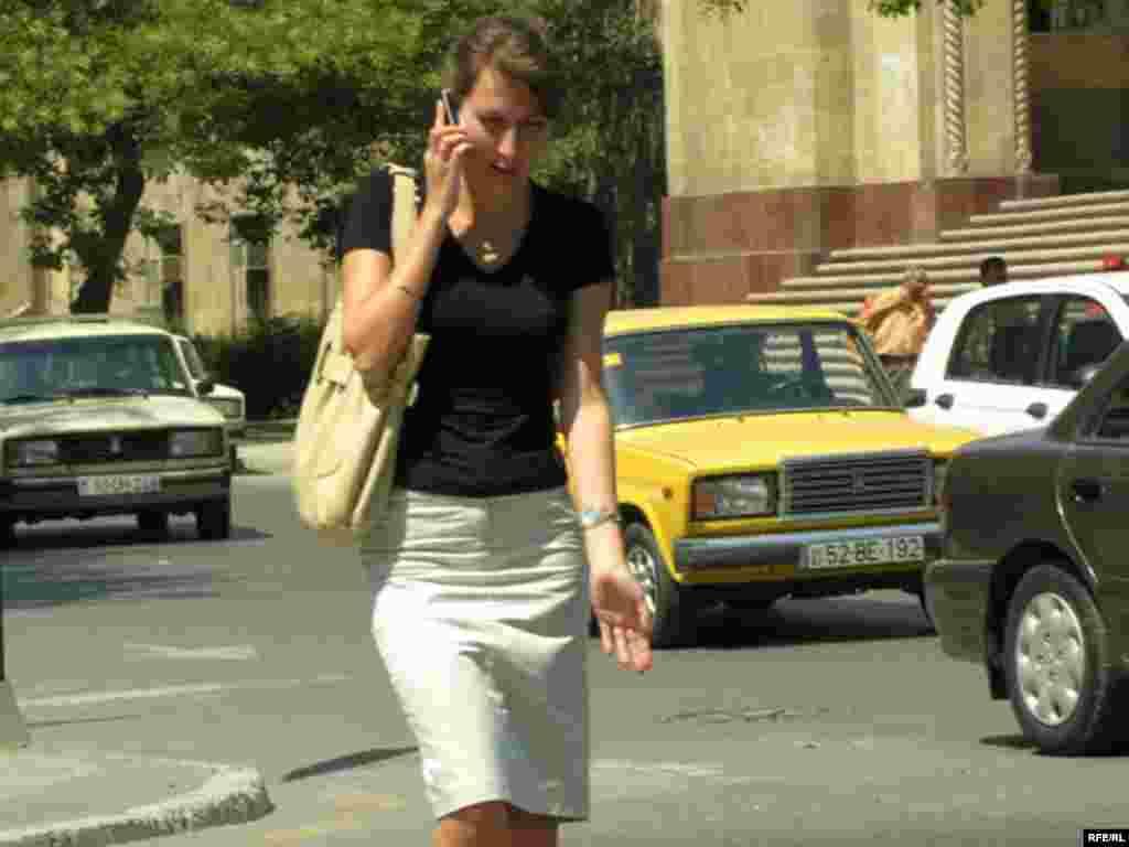 Azerbaijan -- phone girl (AZSL)