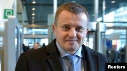 Володимир Демчишин під час переговорів у Брюсселі, березень 2015 року
