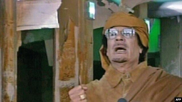 Muammar Qaddafi was defiant in a nationwide address on state television from Tripoli.