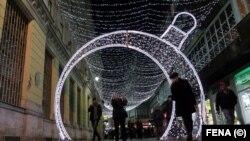Centar Sarajeva pred Novu godinu