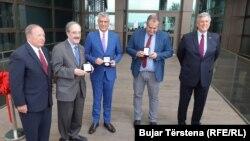 Pamje nga inaugurimi i objektit të ri të Ambasadës së SHBA-së në Prishtinë