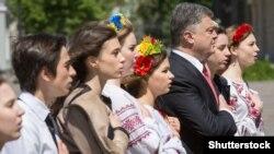 Президент Украины Петр Порошенко на открытии Дня Европы. Киев, 16 мая 2015 года.