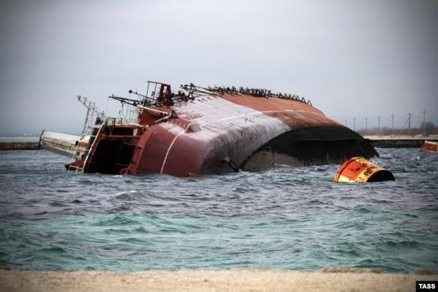 """Затопление корабля """"Очаков"""""""