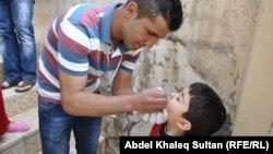 حملة تلقيح ضد مرض شلل الأطفال