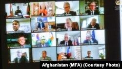 نشست آنلاین اعضای جامعه جهانی به میزبانی وزارت خارجه افغانستان در مورد برگزاری لویه جرگه مشورتی