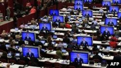 مناصروا اوباما يتابعون المناظرة مع رومني